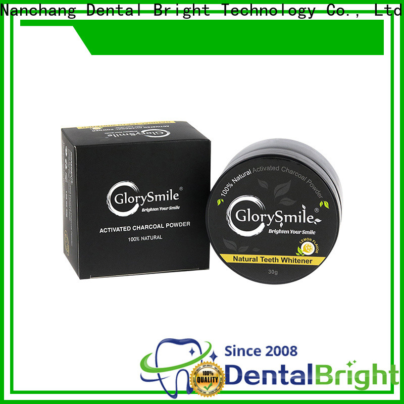 GlorySmile good selling activated charcoal powder reputable manufacturer for teeth