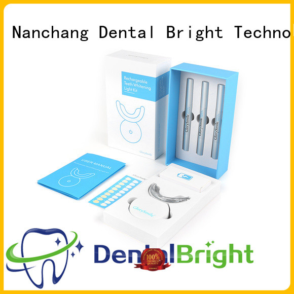 GlorySmile rechargeable home teeth whitening kit wholesale