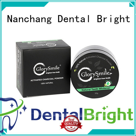 GlorySmile hot sale charcoal teeth whitening powder reputable manufacturer for home usage