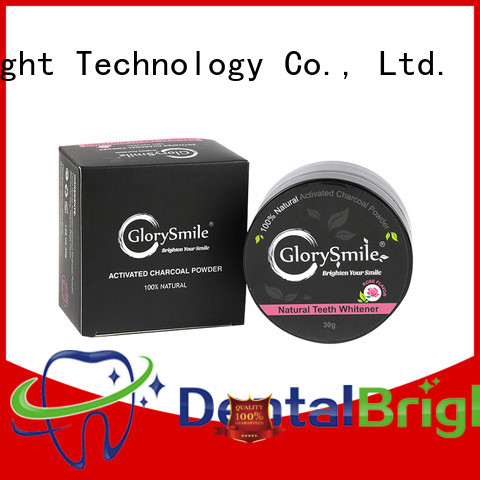 GlorySmile professional charcoal teeth whitening powder reputable manufacturer for home usage