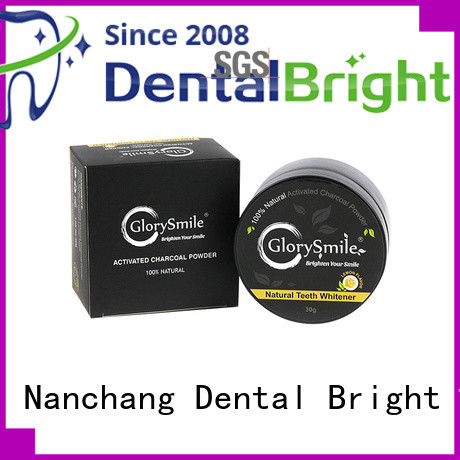 GlorySmile hot sale charcoal teeth whitening powder from China for dental bright