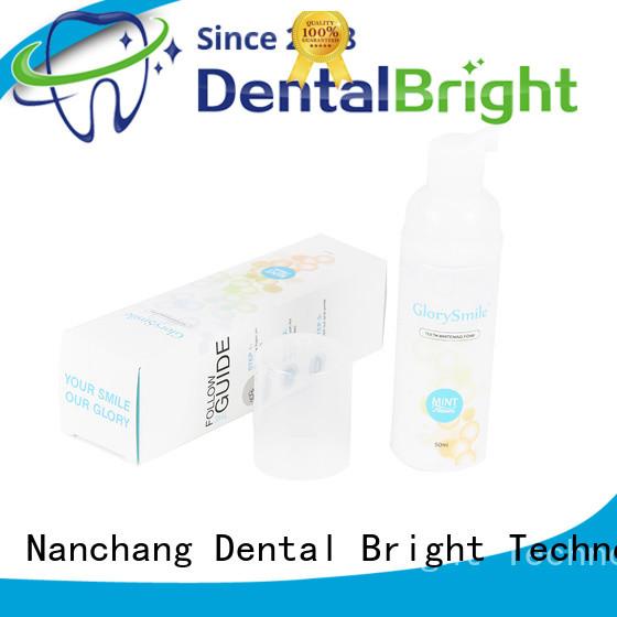 GlorySmile mild teeth whitening foam supplier for teeth