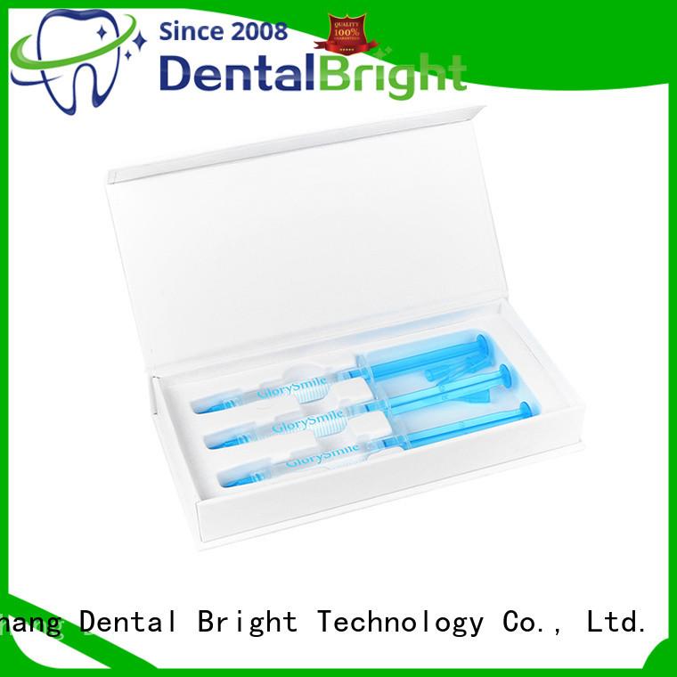 GlorySmile teeth whitening syringe customized for whitening teeth
