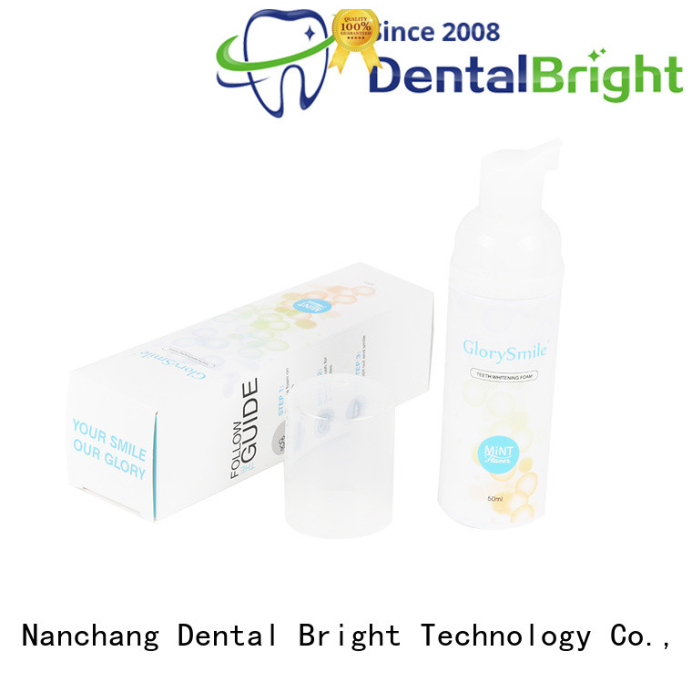 GlorySmile natural teeth whitening foam inquire now for whitening teeth