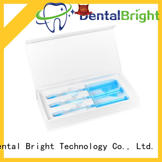 GlorySmile teeth whitening syringe customized for home usage
