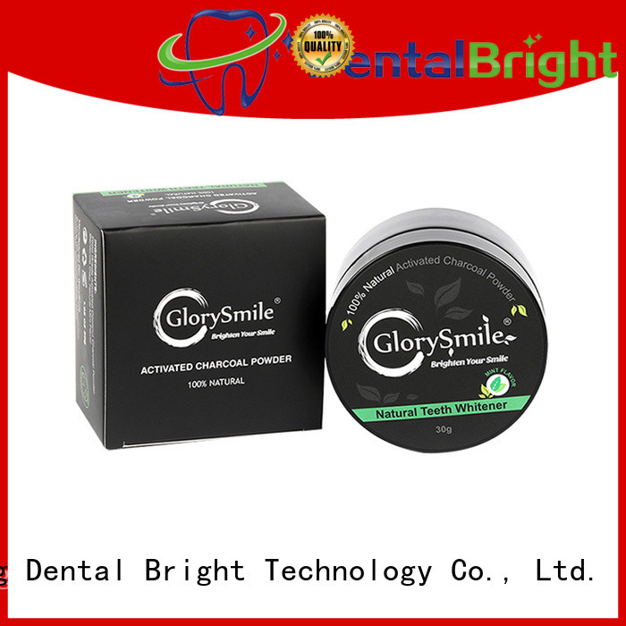 GlorySmile activated charcoal powder from China for whitening teeth