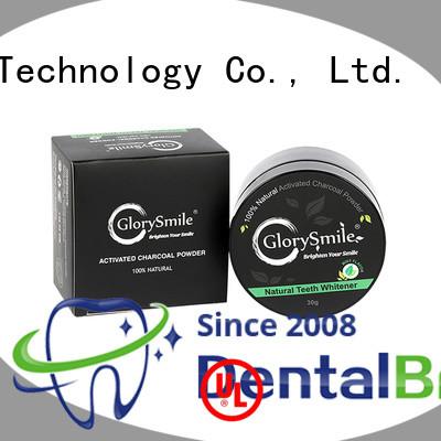 GlorySmile charcoal teeth whitening powder reputable manufacturer for home usage
