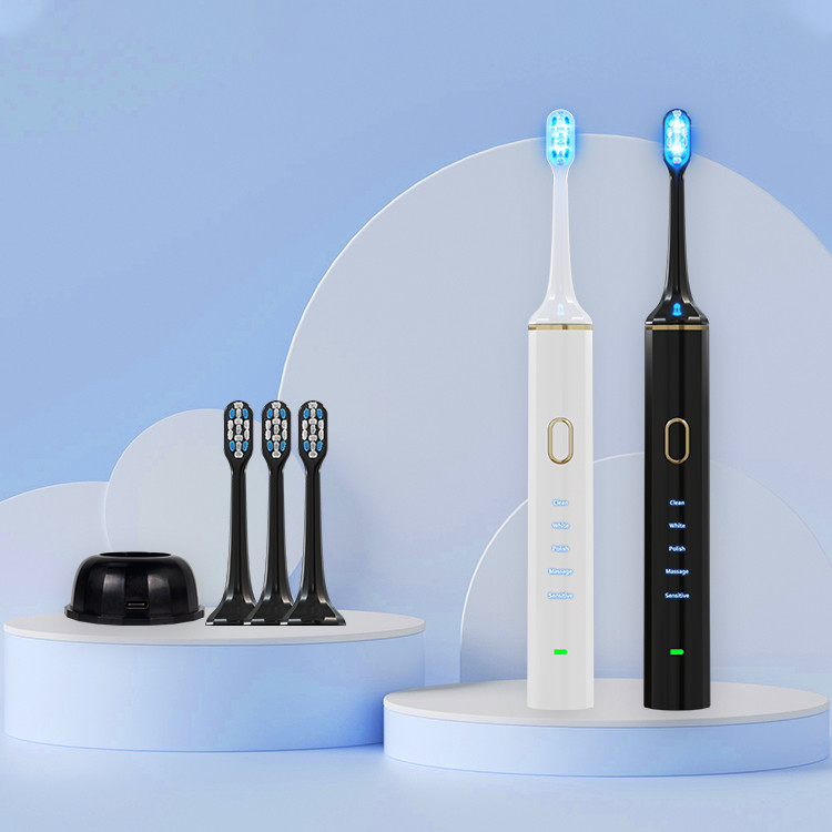 LED Electric Toothbrush Care Case Travel Sonic Adult Kids Baby Children Rotating With Holder