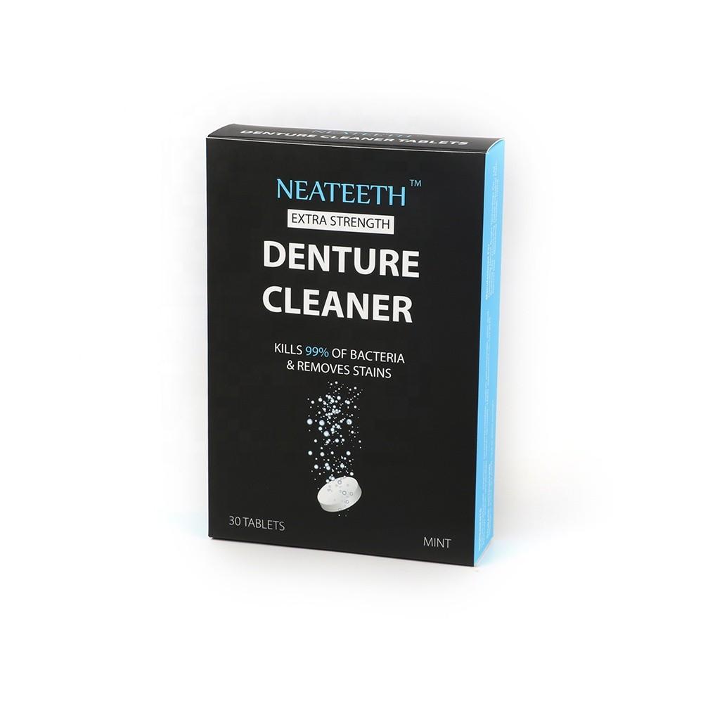 30 Denture Cleaning Tablet OEM Dental Teeth Retainer Cleaner Bacteria
